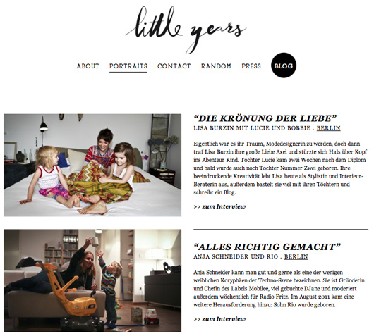 NEU IM NETZ: LITTLE YEARS