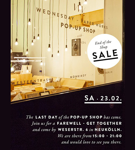 WEDNESDAY – PAPER WORKS: SALE!